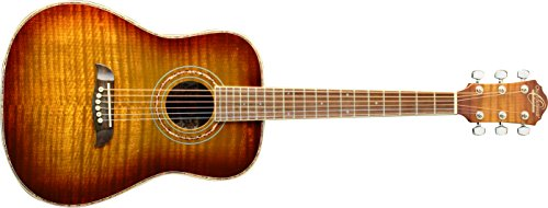Oscar Schmidt OG1FYS-A-U 3/4 Size Dreadnought Acoustic Guitar (High Gloss)Flame Yellow Sunburst