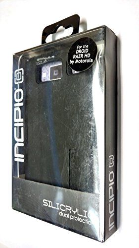 Incipio MT-213 Silicrylic Dual-Pro Hard Shell Case with Silicone Core for Motorola XT926/DROID RAZR HD - 1 Pack - Retail Packaging - Black/Black