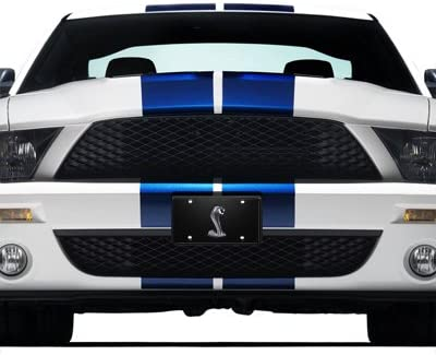 Ford Mustang Cobra Black License Plate