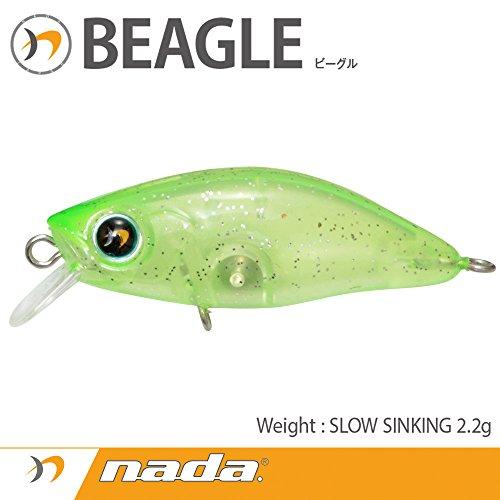 nada(ナダ) ルアー BEAGLE (SS) クリアグリーンシルバーグリッター 33639の商品画像