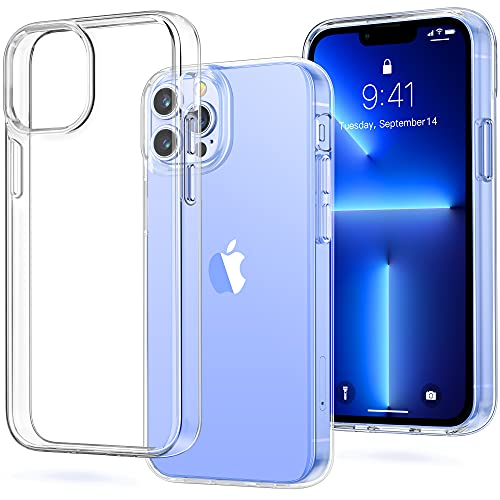 Vakoo Compatible with iPhone 13 Pro Max Case, Clear & Soft Tpu Protective, Ultra Thin with Anti-Scratch Case for iPhone 13 Pro Max (6.7'')