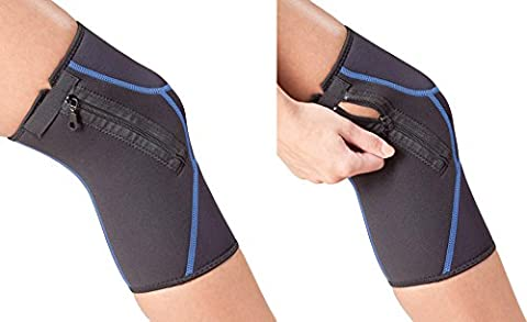 Zippered up Knee Support Brace (2 Pairs) by One & Only USA (Black - 2 Pairs, Large/Extra Large) (Walmart Beactive Brace)