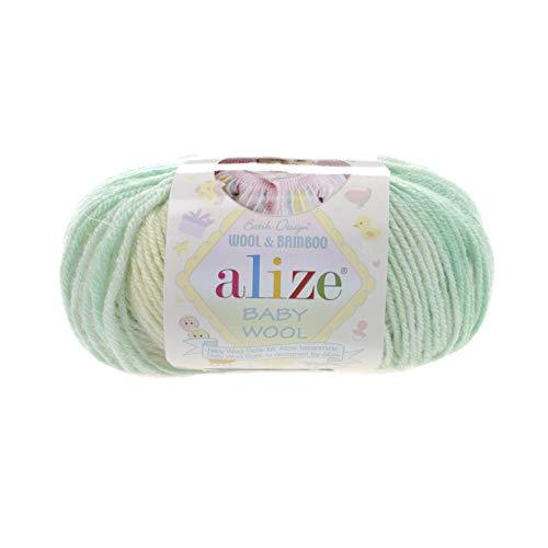 40% Acrylic 40% Wool 20% Bamboo Yarn for Baby Blanket Alize Baby Wool Batik Thread Crochet Hand Knitting Turkish Yarn Craft Art Lot of 8 skeins 400gr 1536 yds Color ()