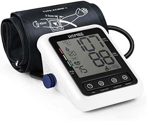 Digital Blood Pressure Machine, HOMIEE Blood Pressure Monitor with AFIB Detection, 2 Users 240 Memories, 2.4