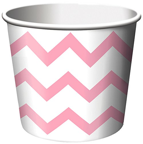 Paper Treat Cups, 6-Count, Chevron Classic Pink