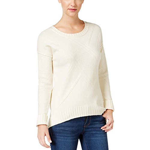 Calvin Klein Jeans Women's High Low Sweater, Pristine, X-Large ()
