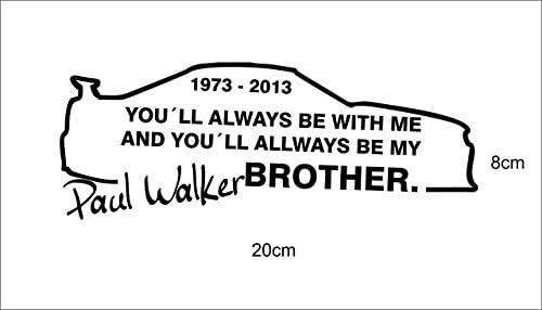 Saphir Design Paul Walker My Brother Tuning 20x 8cm Hochleistungsfolie In Weiß Küche Haushalt