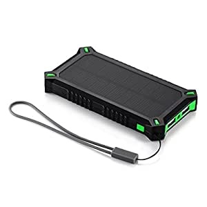 Poweradd Apollo3 8000mAh Power Bank Solar Charger for iPhone, Samsung Galaxy and More Smartphones
