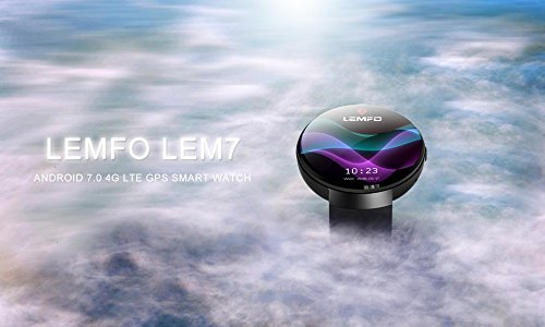 LEMFO LEM7 Smart Watch 2018 4G SIM GPS Heart Rate Camera For Android IOS (Black, 1Set)