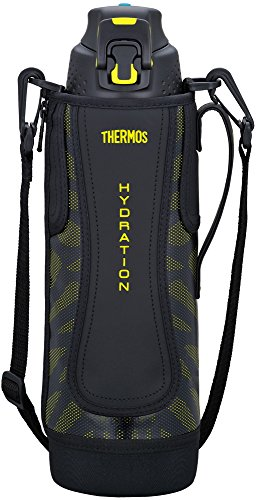 Thermos vacuum insulation sports bottle [one-touch open type] 1.5L black yellow FFZ-1501F BKY ()