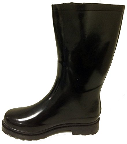 G4U Womens Rubber Color Styles Snow Calf Wellies Mid Rain Buckle Short Waterproof Boots Shoes 1 Black Multiple HBxqrUdHwg