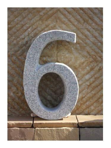 F/ür Ihre Firma//Hotel Gastronomie oder zu Hause Der Naturstein Garten 6 Hausnummer aus echtem Granit 40 cm hoch