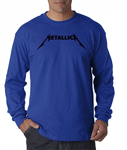 New Way 778 - Unisex Long-Sleeve T-Shirt Metallica Beavis Butt-Head Parody Logo XL Royal -