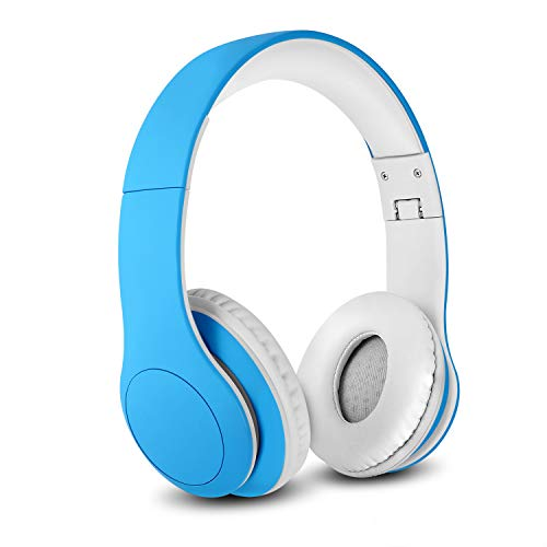 Nenos Bluetooth Kids Headphones Wireless Kids Headphones 93dB Limited Volume Wireless Headphones for Kids (Blue)