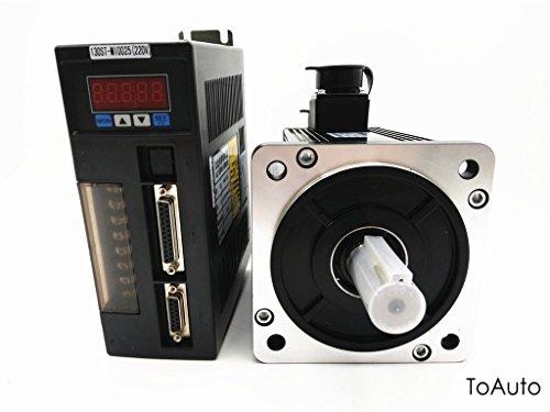 Ac servo motor drive kit 2 6kw nema52 2500r min 10nm cnc for Ac servo motor drive