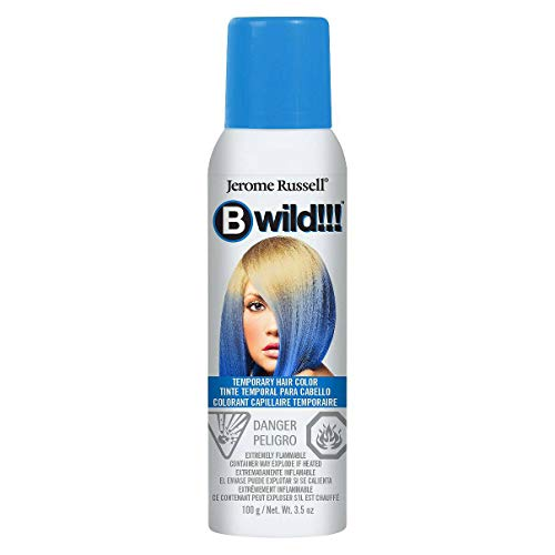 Dark Blue Hair Spray (Jerome Russell B Wild (Bengal Blue) Temporary Hair Color Spray)