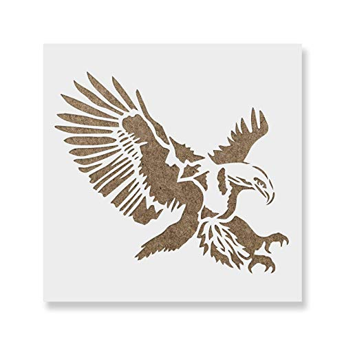 Eagle Stencil Template - Reusable Stencil of an Eagle Bird with Multiple Sizes - Eagle Available