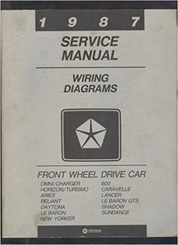 Pleasant Chrysler 1987 Service Manual Wiring Diagrams For Front Wheel Drive Wiring Cloud Hisonuggs Outletorg