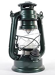 New 19cm Green Mat Retro Led Lantern Outdoor Camping Hurricane Lamp