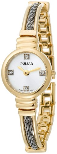 Pulsar Women's PTA370 Crystal Accented Two-Tone Stainless Steel Watch