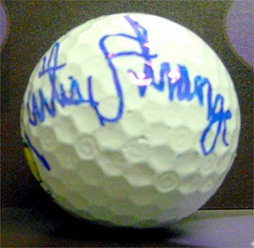 - Curtis Strange autographed golf ball (PGA US Open Champion 2X Wake Forest University Demon Deacons) with free display cube