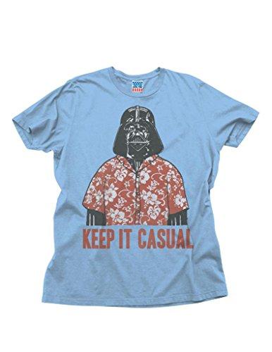 (Junk Food Star Wars Keep It Casual Adult Sky Blue T-Shirt (Adult)