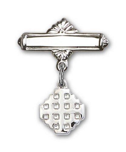 Icecarats Créatrice De Bijoux En Argent Sterling Charme De Croix De Jérusalem Broches Badge 7/8 X 5/8