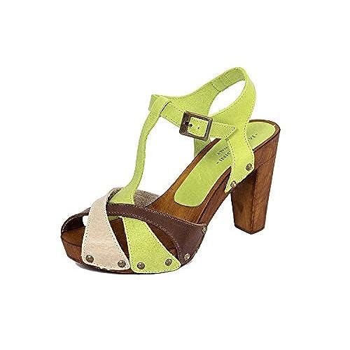 Marradini Femme panna En 210 verde Sandale Cuir 365 taupe OiXZkuTP