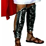 Paire de jambières, plastique, fer couleur soldat romain protège-tibias