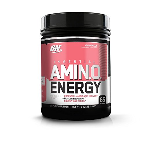 Optimum Nutrition Amino Energy with Green Tea and Green Coffee Extract, Preworkout and Amino Acids, Flavor: Watermelon, 1.29 Pound