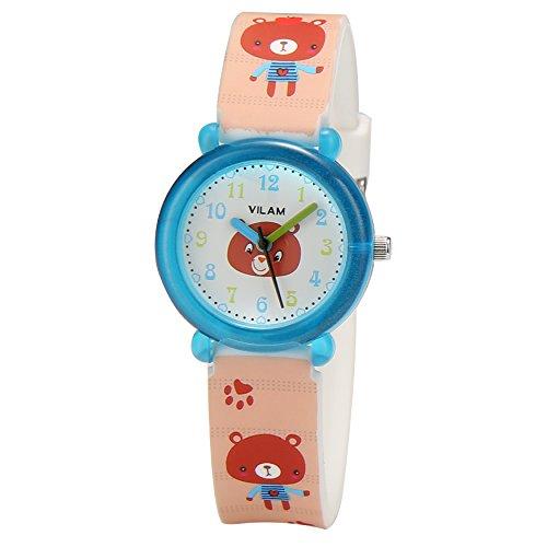 ALPS Girls Watch Kids Bear Pattern Analog Watch