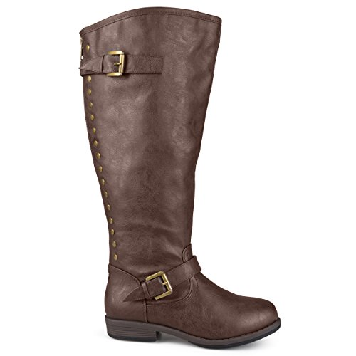 (Brinley Co Women's Durango/ Spokane-xwc Riding Boot, Brown Extra Wide Calf, 8.5 M US)