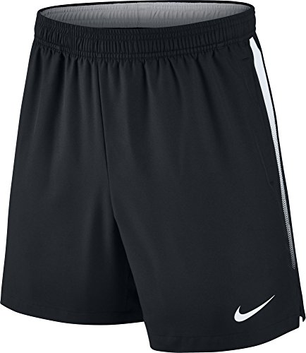 Nike Mens Court Dry 7 Tennis Shorts (Black/White, S) (Tennis Black Nike Shorts)