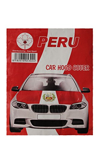 PERU Country Flag CAR HOOD COVER New by Unknown