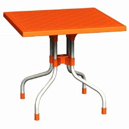 Compamia Forza Orange Square Folding Table 31 Inch
