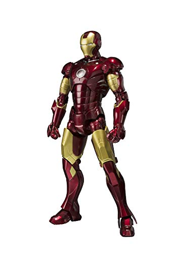 BANDAI SPIRITS S.H.Figuarts Captain Marvel Action Figure Iron Man Mark 3 About 155mm ABS & PVC & Diecast Movable Figure]()