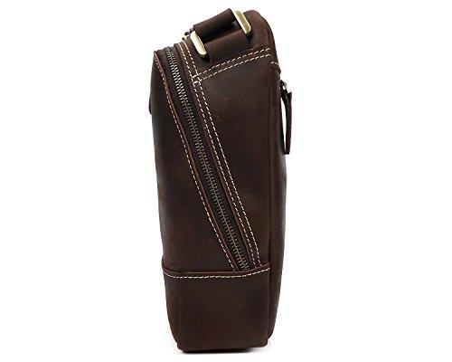 bag Crazy Borsa Pelle a Classic Scsy pelle Borsa Horse The Skin First in Retro tracolla Layer marrone Mens 6pwq11BtP