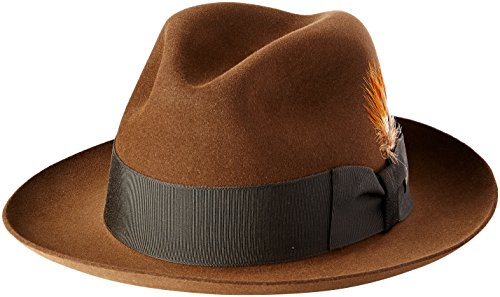 Stetson Men's Sttson Temple Royal Deluxe Fur Felt Hat, Mink, 7.625