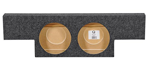 Dual 12″ Subwoofer Sub Box Enclosure for 2004-06 GMC/Chevy Crew Cab Behind Seat