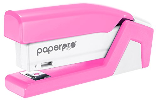 PaperPro inCOURAGE20 - 3 in 1 Stapler - One Finger, No Effort, Spring Powered Stapler - BCA Pink (1588)