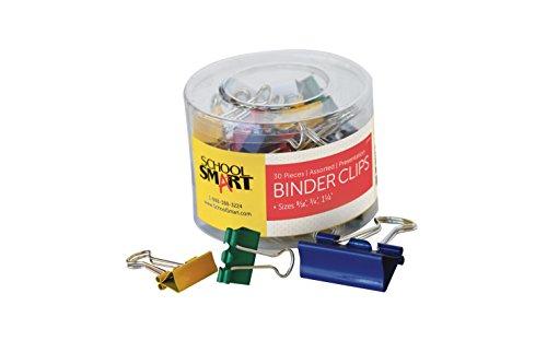 School Smart Presentation Binder Clip - Configurable Item, Assorted Size, Assorted Color, Pack of 30