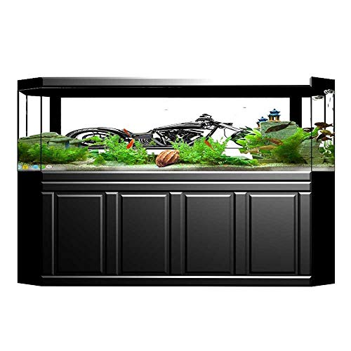 Fish Tank Background Decor Static Image Backdrop Wallpaper Sticker Cling Decals Custom Made Motorcycle Expensive Horsepower Adventurous Masculine Vehicle Wallpaper Sticker Background Decoration 23.6