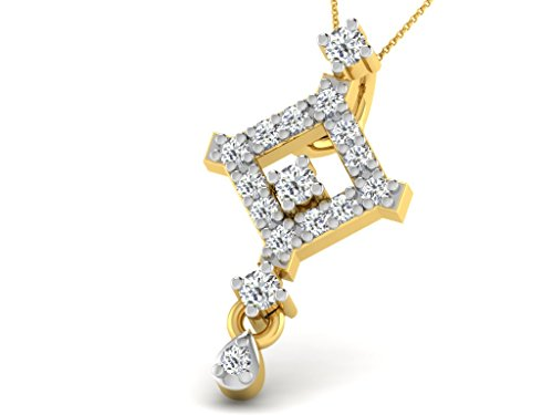Or Jaune 14 ct Pendentifs Diamant , 0.08 Ct Diamant, GH-SI, 0.49 grammes.