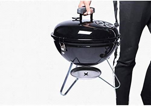 LEIXIN Barbecue Portable Portable Barbecue au Charbon Barbecue Camping extérieure Bois Carbone Four Accueil Carbone Rond Barbecue Sauvage for 3-5 Personnes Gathering Pique-Nique