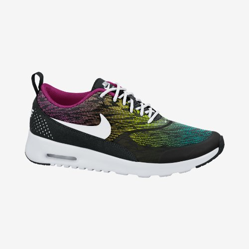 Nike Air Max Thea Print Women's Running Shoes Size US 5.5, Regular Width, Color Black/Multicolor