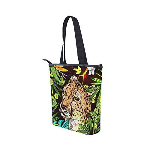 Cheetah Canvas MyDaily Tote Bag Handbag Tote Shoulder Womens Canvas Tropical MyDaily ZqZ4FI8