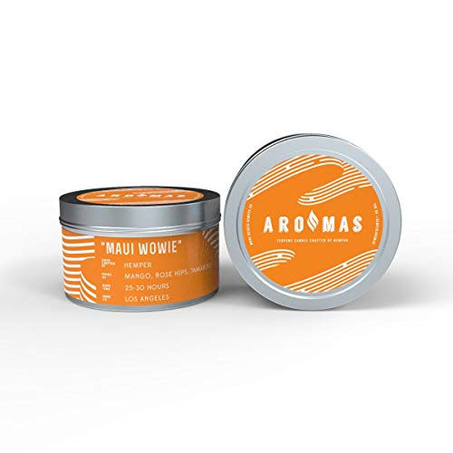 Aromas Luxury Scented Soy Odor Eliminating Candles | Hand Poured in The USA | Long Burning | Maui Wowie Scent