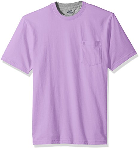 rew Neck Solid Short Sleeve Tee, Sheer Lilac, Small ()