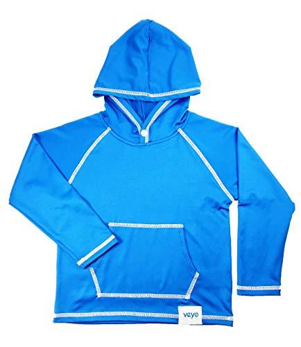 - Veyo Kids - Sun Hoodie   Boys & Girls Sun Protection Shirt with Hood (Small, Blue)