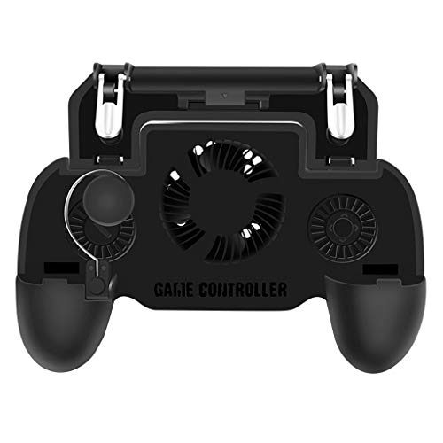 Sonmer Mobile Game Controller Latest Version Adjustable Triggers, Gamepad with Cooling Fan, Power Bank for Android & iOS Phones Compatible with PUGB/Fortnite/Rules of Survival/Knives Out